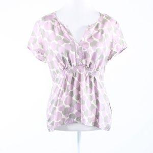 Boden white purple polka dot tunic blouse 8